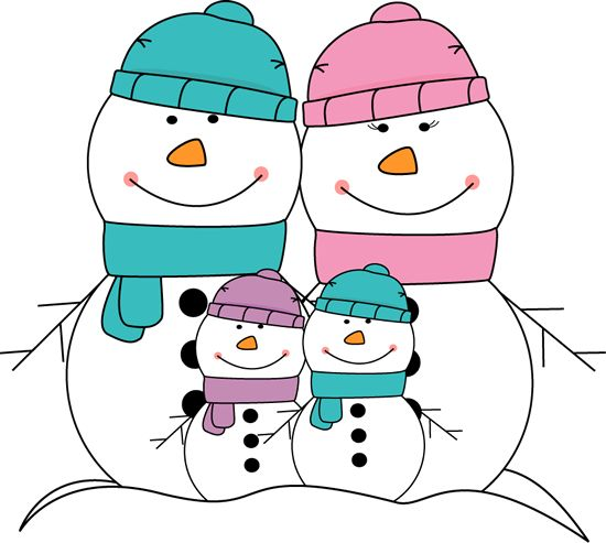 Holydays clipart snowman family Clipart about on Pinterest school