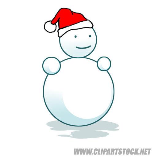Snowman clipart simple Photos Santa Simple Pictures Cap