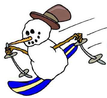 Snowman clipart skiing Slopes Lane I Book Fun