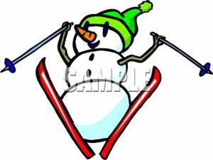 Snowman clipart skiing Skiing Art Skiing Clipart Snowman