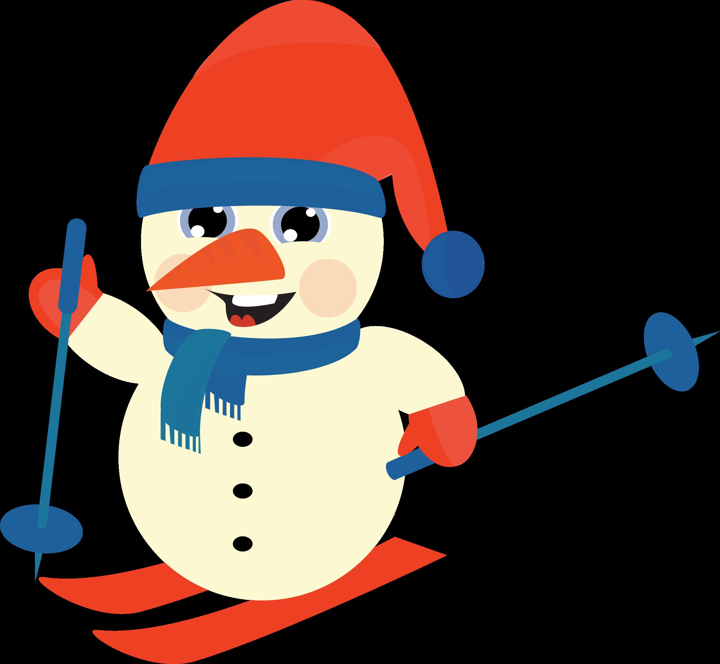 Snowman clipart skiing Skiing Skiing Snow Snow Man