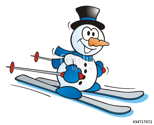 Snowman clipart skiing  on Snowman photo Little