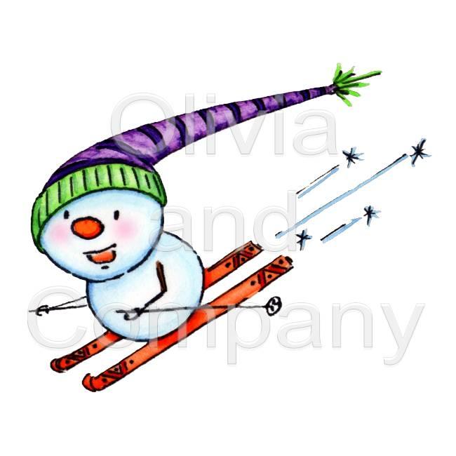 Snowman clipart skiing Skiing Snowman Snowman