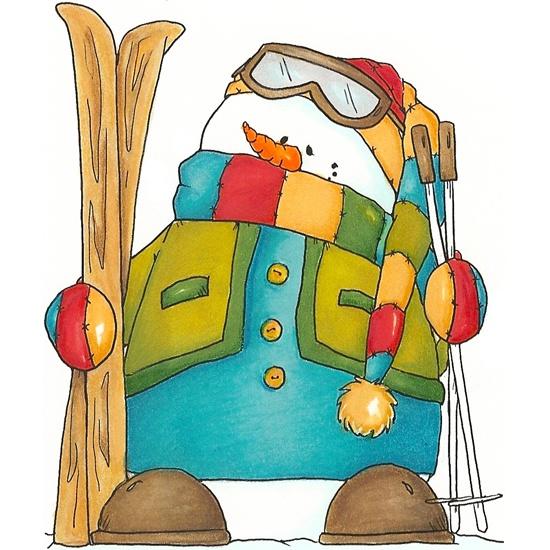 Snowman clipart skiing Best CLIP Snowman SNOWMAN Pinterest