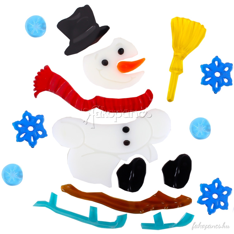 Snowman clipart sledge Decorations the jellies :: Window