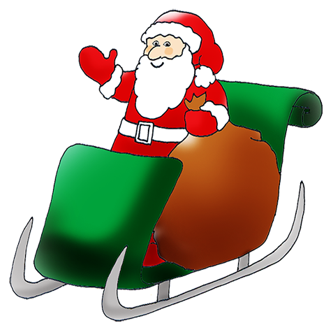 Snowman clipart sledge Claus JPEG Happy in Art