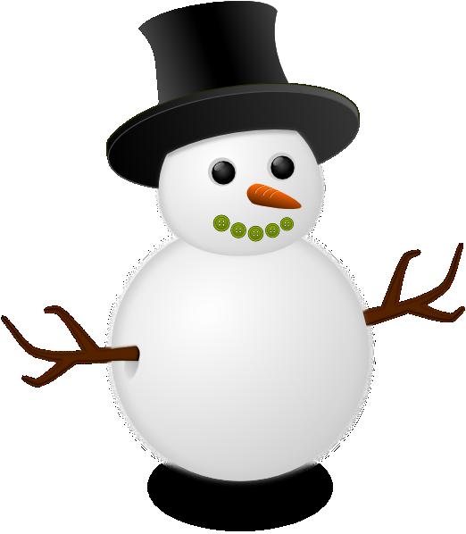 Snowman clipart small Art Clker Clip PNG: royalty