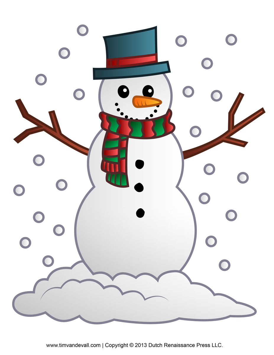 Traditional clipart snowman – 101 Christmas Clipart Clip