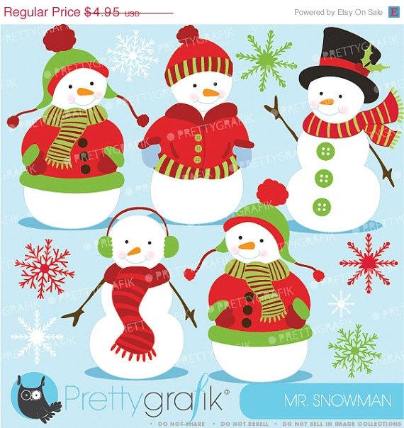 Snowman clipart snowman family Art clip use vector vector