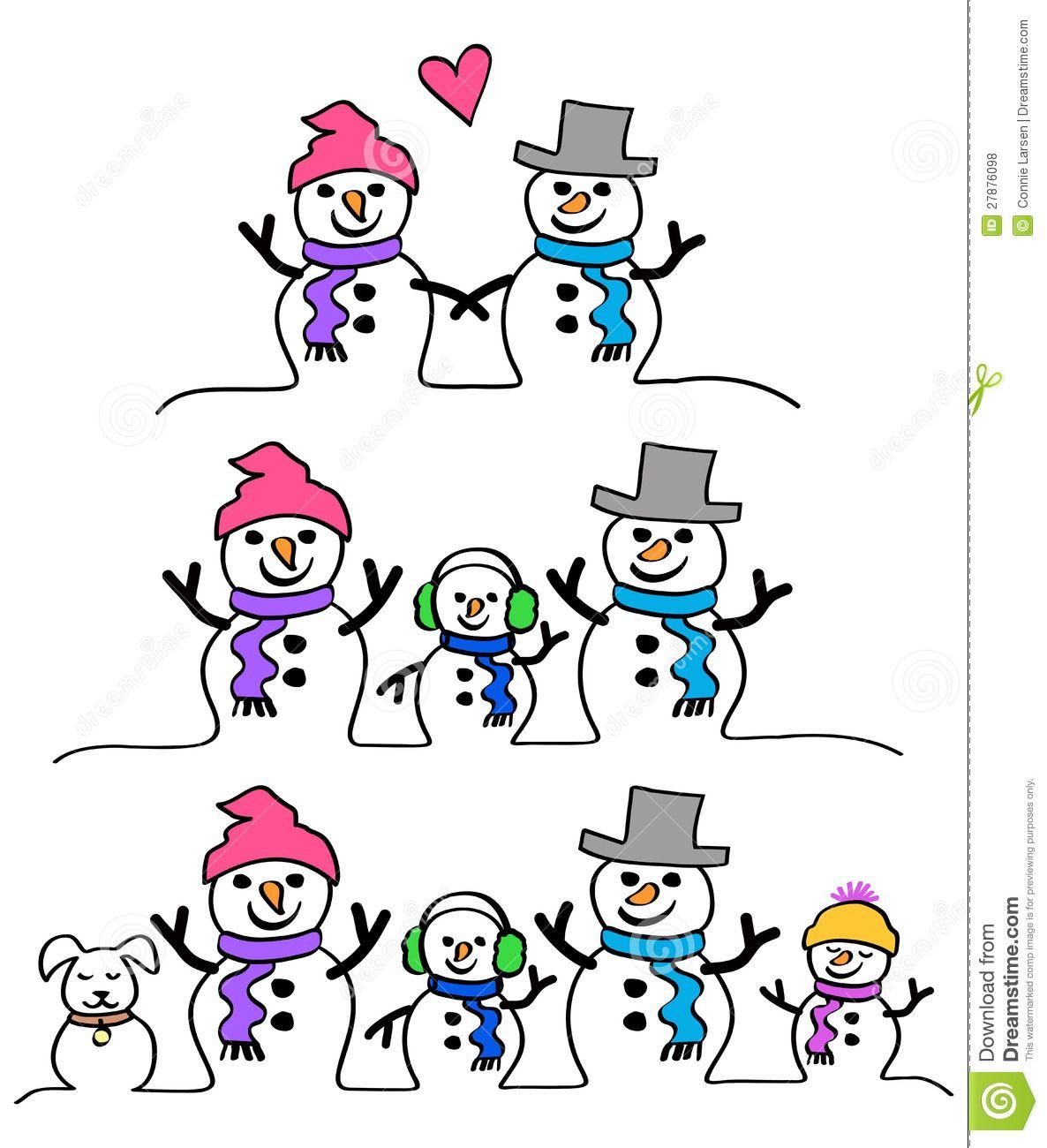 Snowman clipart snowman family Collection Stock Igloo & Snowman