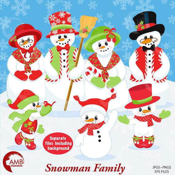 Snowman clipart snowman family Clipart Clipart Il_570xn Snowman Frosty