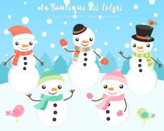 Snowman clipart snowman family Family PNG Snowman Clipart Winter