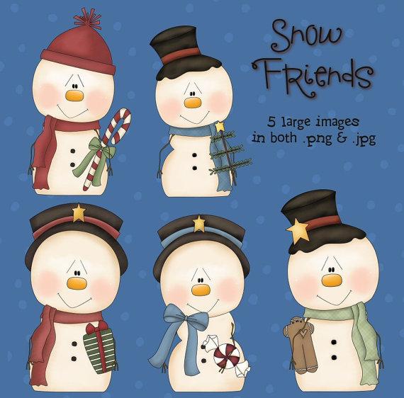 Snowman clipart theme Snowfriends Images Scrapbooking Snowfriends