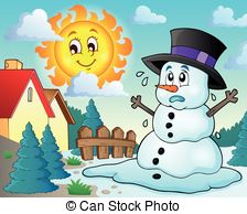 Snowman clipart theme Melting Art Clipart – Clip