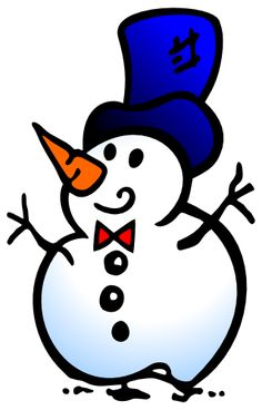 Traditional clipart snowman Fun playful two clipart Art