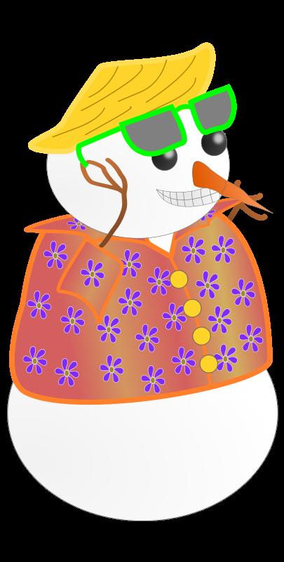 Tropical clipart snowman #14