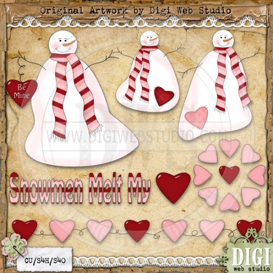 Snowman clipart valentine 1 Rae Art Valentine Art