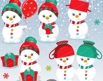 Snowman clipart valentine CA501 birds day Snowman Holiday