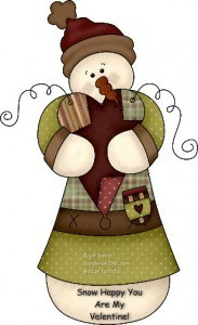 Snowman clipart valentine Generation of with Happy snowman