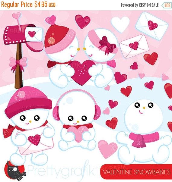 Snowman clipart valentine Clipart SALE graphics 80% snowman