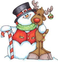 Snowman clipart xmas Art Snowman family *Ü* el