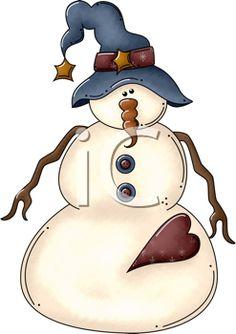 Snowman clipart xmas Mix storm art ♥ Snowman
