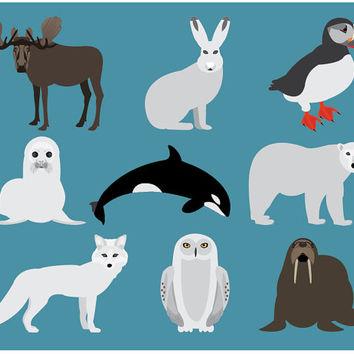Tundra clipart arctic animal #1