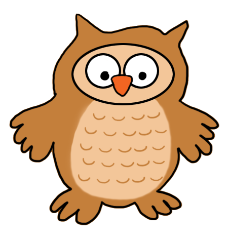 Brown Hawk Owl clipart night owl Owl baby clipart Art owl