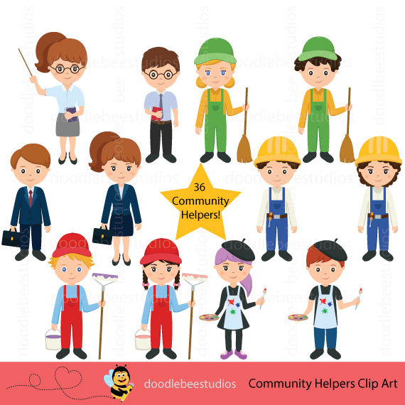 Community clipart person Art Community Clipart doodlebeestudios Career