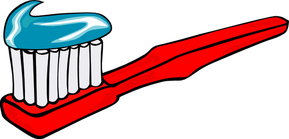 Toothbrush clipart simple #3