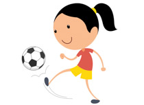 Soccer clipart kicker Ball Clip soccer knee with