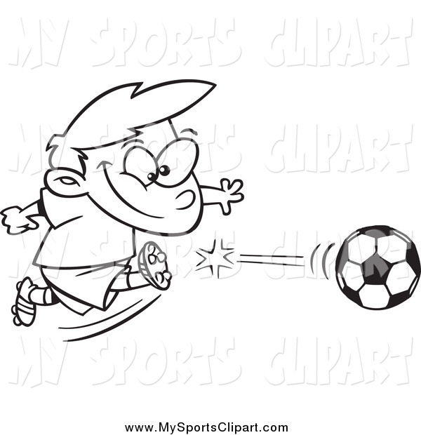 Soccer clipart athletic boy Of a Black Black of