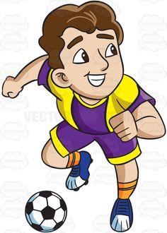 Soccer clipart athletic boy Athlete Cartoon Clipart To Goal