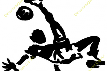 Soccer clipart bicycle kick Kick Clip Silhouette Clip Soccer