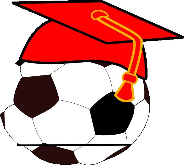 Soccer clipart graduation Vector  image com Clker