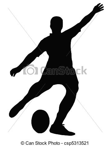 Soccer clipart kicker Football clip Rugby place Kicker