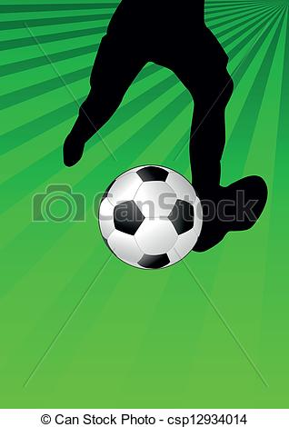 Soccer clipart kicker Vector soccer Art Clip of