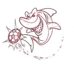 Soccer clipart shark Sports logos ball Logo San