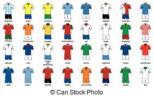 Shirt clipart soccer uniform Team football world Vector Clip