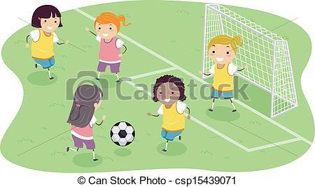 Soccer clipart soccer team Girls Soccer  Team Clipart