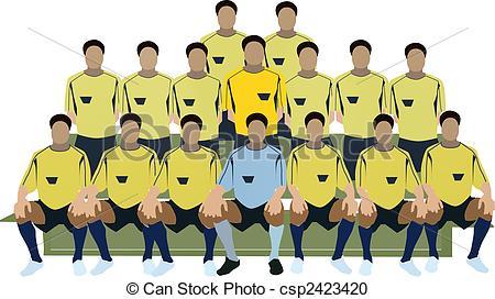 Soccer clipart soccer team Illustration soccer of Illustration team