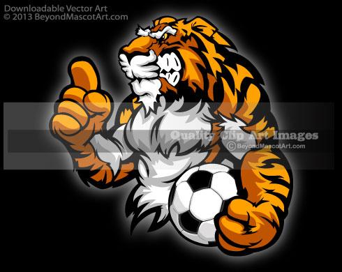 Soccer clipart tiger Clip Art Illustrator Res Soccer