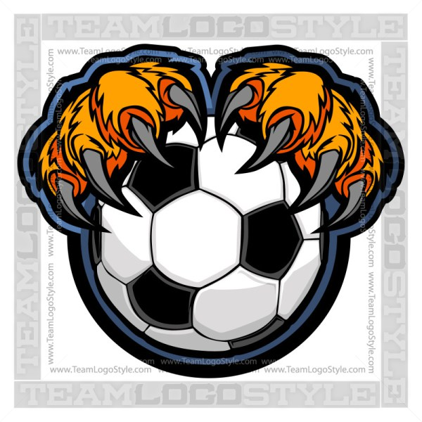 Soccer clipart tiger Claws Tiger Vector Soccer Clipart