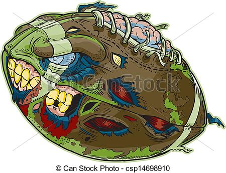 Zombie clipart football Vector Vector of A Zombie
