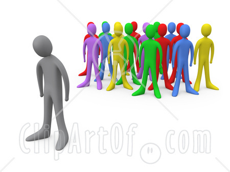 Crowd clipart person art Social Discrimination Clipground Isolation clipart