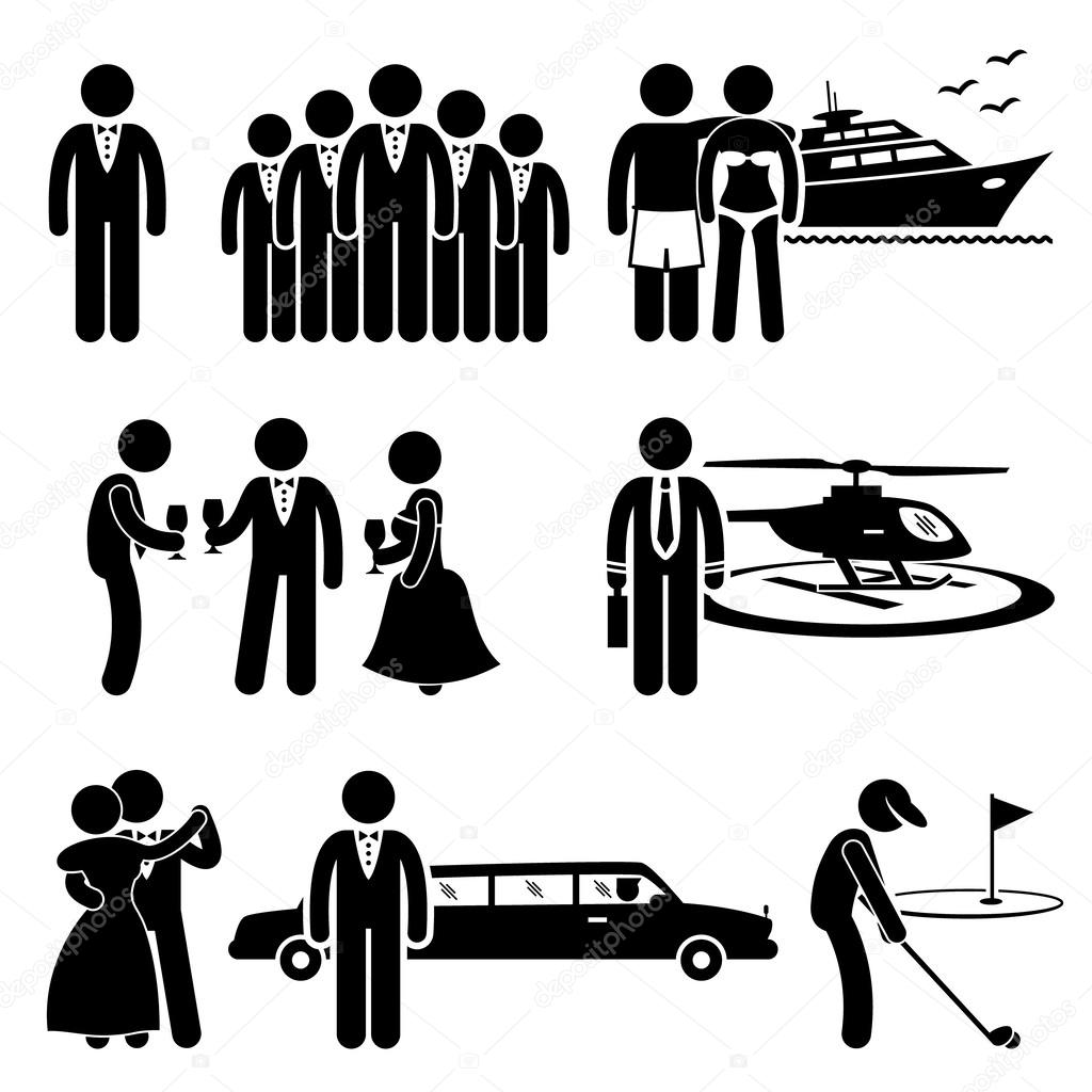 Figurine clipart rich Vector Activity People Society Figure