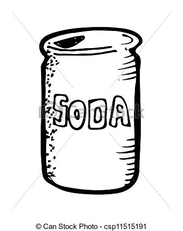 Soda clipart metal can Can  Stock drink
