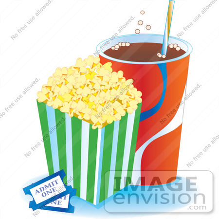 Popcorn clipart ticket A Of Clipart clipart popcorn
