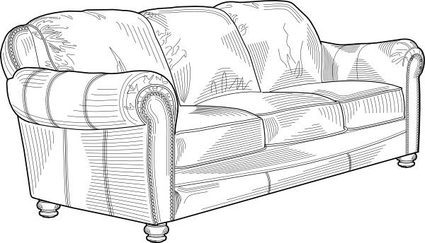 Sofa clipart Vector Open Free art drawing
