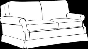 Sofa clipart Clker  vector at Art